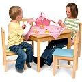 Dětská dřevěná židle - růžová