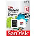 SanDisk Micro SDHC 8GB Ultra Class 10 + SD adaptér