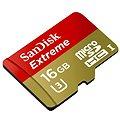 SanDisk Micro SDHC 16GB Extreme UHS-I (U3) + SD adaptér