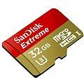SanDisk MicroSDHC 32GB Extreme UHS-I (U3) + SD adaptér