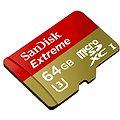 SanDisk MicroSDXC 64GB Extreme UHS-I (U3) + SD adaptér