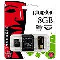 Kingston Micro SDHC 8GB Class 10 + SD adaptér a USB čtečka