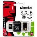 Kingston Micro SDHC 32GB Class 10 + SD adaptér a USB čtečka