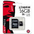 Kingston Micro SDHC 16GB Class 10 UHS-I + SD adaptér