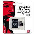 Kingston Micro SDXC 128GB Class 10 UHS-I + SD adaptér