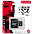 Kingston Micro SDHC 32GB Class 10 UHS-I Industrial Temp + SD adaptér