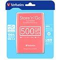 "Verbatim 2.5"" Store 'n' Go USB HDD 500GB - růžový"