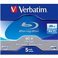 Verbatim BD-R SL LTH 25GB 6x, 5ks