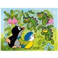 Dino dřevěné kostky kubus - Krteček a ptáček