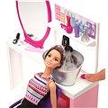 Mattel Barbie - Kadeřnický salón s třpytkami s brunetkou