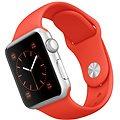 Apple Watch Sport 38mm Stříbrný hliník s oranžovým řemínkem