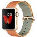 Apple Watch Sport 38mm Zlatý hliník s červeným řemínkem z tkaného nylonu