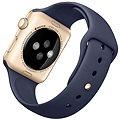 Apple Watch Sport 42mm Zlatý hliník s půlnočně modrým řemínkem