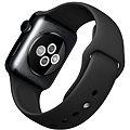 Apple Watch 38mm Vesmírně černá nerez ocel s černým řemínkem