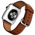Apple Watch 38mm Nerez ocel se sedlově hnědým řemínkem s klasickou přezkou