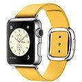 Apple Watch 38mm Nerez ocel s měsíčkově žlutým řemínkem s moderní přezkou - velikost S
