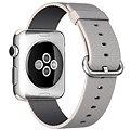 Apple Watch 42mm Nerez ocel s perlově šedým řemínkem z tkaného nylonu