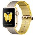 Apple Watch Series 2 38mm Zlatý hliník se žlutým / světle šedým řemínkem z tkaného nylonu