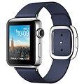 Apple Watch Series 2 38mm Nerezová ocel s půlnočně modrým řemínkem s moderní přezkou - středním