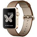 Apple Watch Series 2 42mm Zlatý hliník s kávovo-karamelově hnědým řemínkem z tkaného nylonu