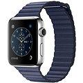 Apple Watch Series 2 42mm Nerez ocel s půlnočně modrým koženým řemínkem - velkým