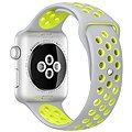 Apple Watch Nike+ 42mm Stříbrný hliník s matně stříbrným / Volt sportovním řemínkem Nike
