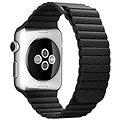 Apple 42mm Černý kožený - Medium