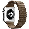 Apple 42mm Světle hnědý kožený - Medium
