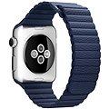 Apple 42mm Půlnočně modrý kožený - Large