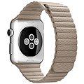 Apple 42mm Kamenně šedý kožený - Large