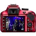 Nikon D3400 červený + 18-55mm AF-P VR
