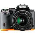 PENTAX K-S2 černo/oranžový + 18-50mm WR