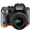 PENTAX K-S2 černo/oranžový + 18-50WR + 50-200WR