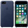 APPLE iPhone 7 Kožený kryt půlnočně modrý