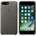 APPLE iPhone 7 Plus Kožený kryt bouřkově šedý
