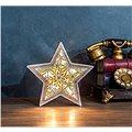 Solight LED vánoční hvězda, dřevěný dekor