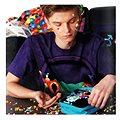 Pixelová taška na rameno 16 fialová