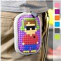 Pixelová kapsička fialová 06