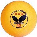 Butterfly 3stars míčky orange