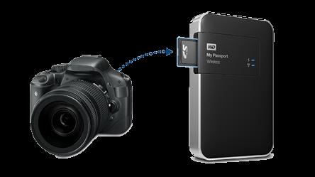 My Passport Wireless s fotoaparátem a SD kartou