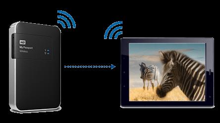 My Passport Wireless sdílí internet
