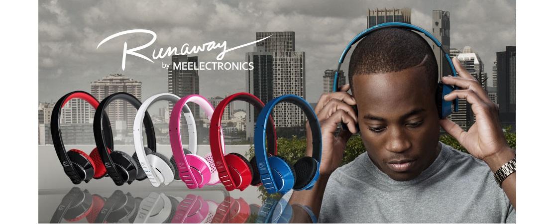 Sluchátka s mikrofonem MEElectronics Runaway