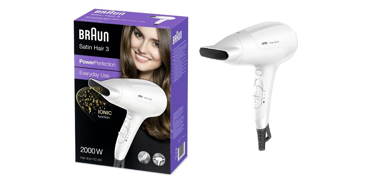 Fén na vlasy BRAUN Satin Hair 3 - Vysoušeč vlasů HD 380