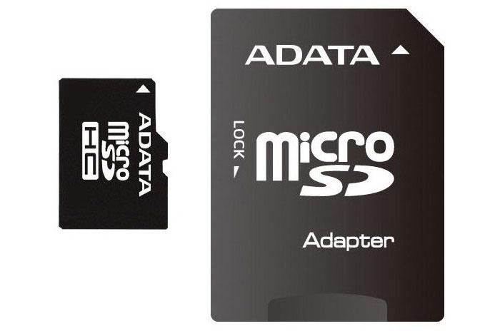 Micro SDHC + SD adaptér