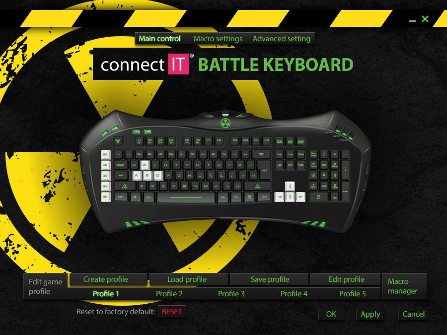 CONNECT IT Battle Keyboard CI-147 CZ Software