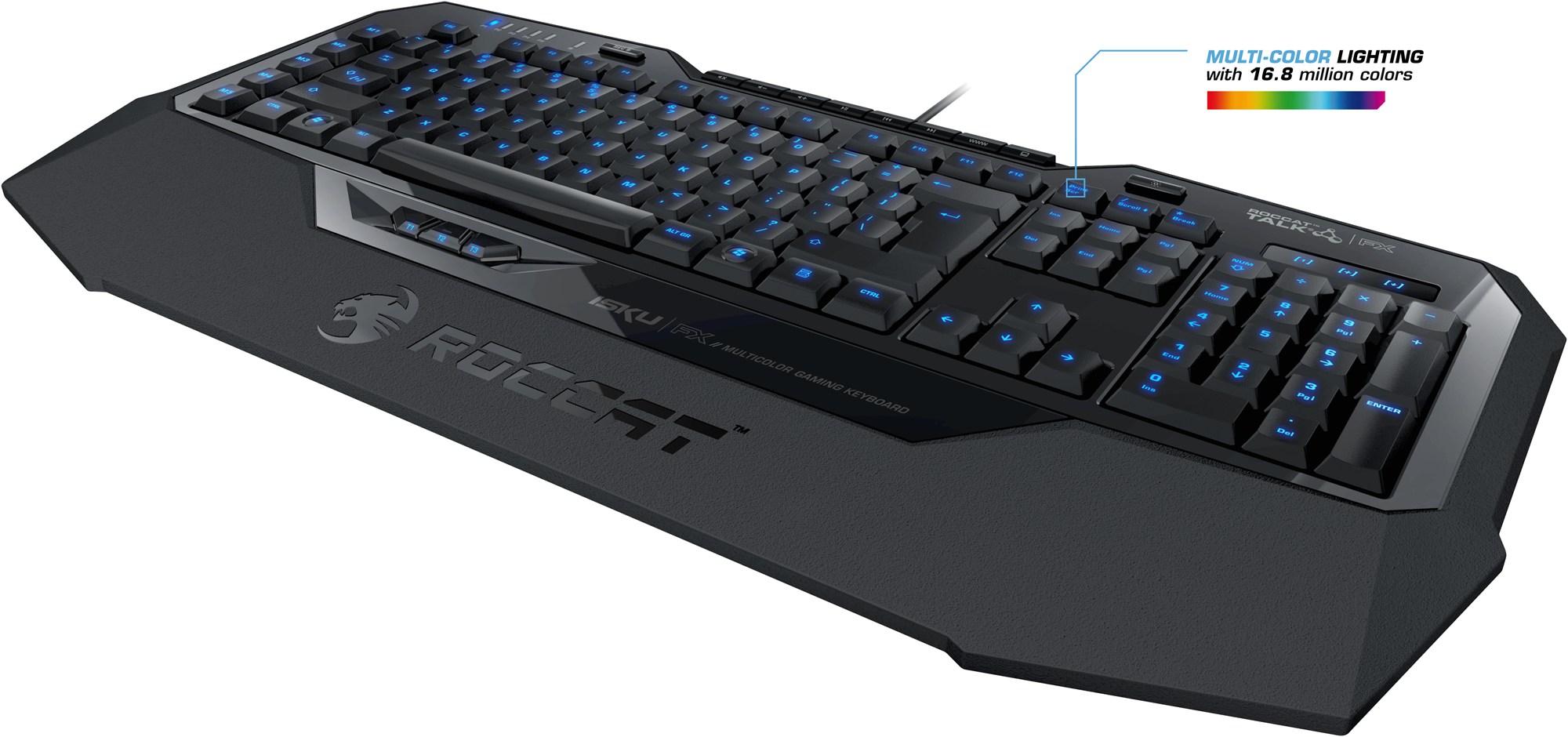 Barevné podsvícení klávesnice
