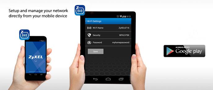 Aplikace ZyXEL zConfig