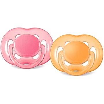Philips AVENT dudlík SENSITIVE 6-18 měsíců, růžový a oranžový