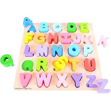 Dřevěná motorická vzdělávací hračka - Abeceda