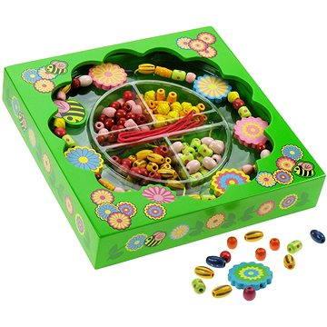 Dřěvěné navlékací korále v krabičce - Kytice